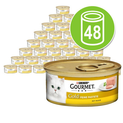 Gourmet Gold Pate Recipes Wet Cat Food Pack 48 X 85g Chicken • 33.35£