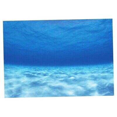 AU12.73 • Buy PVC 3D Adhesive Poster Seawater Image For Fish Tank Backdrop Background