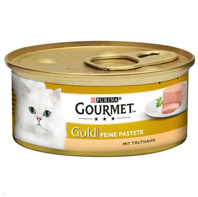 Gourmet Gold Pate Recipes Wet Cat Food 48 X 85g Pack Turkey • 35.99£
