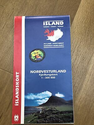 Island Iceland General Map (North-West) 1:300,000 Islandskort 2002 • 2.75£