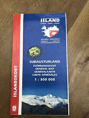 Island Iceland General Map (South-East) 1:300,000 Islandskort 2002 • 3.25£