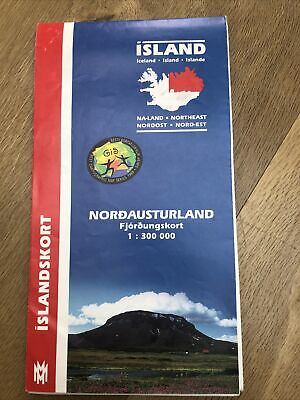 Island Iceland General Map (North-East) 1:300,000 Islandskort 2002 • 2.75£
