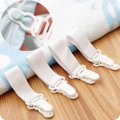 £3.05 • Buy Adjustable Grips Grippers Clips Fasteners Straps Plastic Bed Sofa Sheet Holders