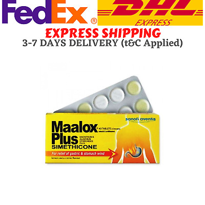 $28.80 • Buy Maalox Plus Simethicone For Relief Of Gastric & Stomach Wind 40'S DHL FREE SHIP