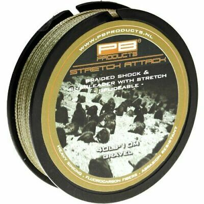 PB Products STRETCH ATTACK Lead Free Carp Leader 40lb 10m Spool Weed Gravel Silt • 13.95£