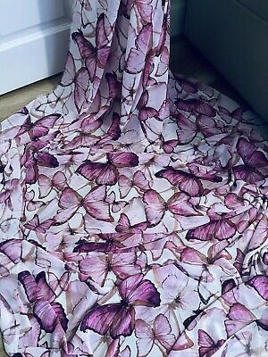 £4.99 • Buy 1M Pink CREPE GEORGETTE BUTTERFLY  DRESS CHIFFON FABRIC 58