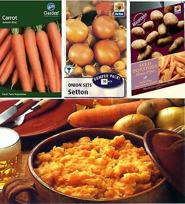 £1.59 • Buy Carrot Onion Potato Seeds Sets Vegetable Grow Your Own