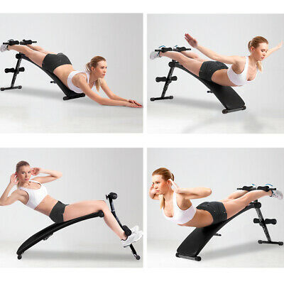 £32.99 • Buy Sit-up Bench Abdominal Trainer Folding Crunch Weight Training Incline Adjustable
