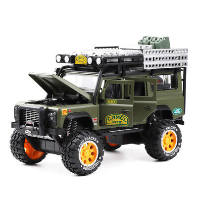 1:28 Camel Trophy Land Rover Defender Off Road Diecast Model Car Toy Collection • 16.99£