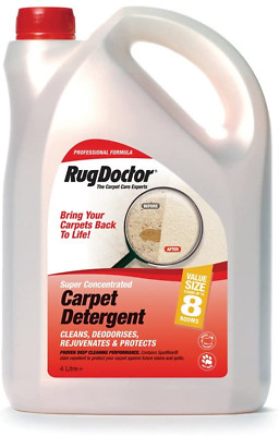 Rug Doctor Carpet Cleaner Shampoo Cleaning Detergent Odour Neutralising 4 L NEW • 48.24£