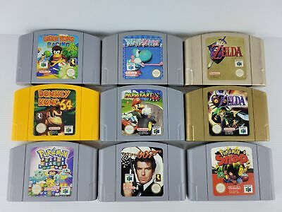 AU79.99 • Buy Nintendo 64  Top Games  *Selection  AUS PAL, Cleaned, Guaranteed, **FREE POST**