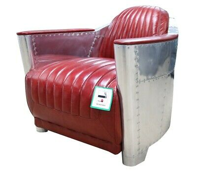 £679.50 • Buy Brand New Aviator Halo Vintage Rocket Tub Chair Distressed Red Leather Retro