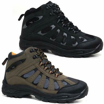 £19.95 • Buy Mens Hiking Boots New Walking Ankle Wide Fit Trail Trekking Trainers Shoes Size