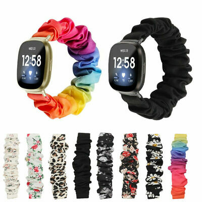 $ CDN15.86 • Buy Replacement Scrunchie Style Strap Bracelet Band For Fitbit Versa 3 Wristband