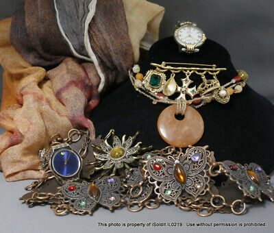 $ CDN25.06 • Buy LOT WOMENS JEWELRY Lia Sophia Necklace, Rosso Forte Cashmere Scarf, Geneve Watch