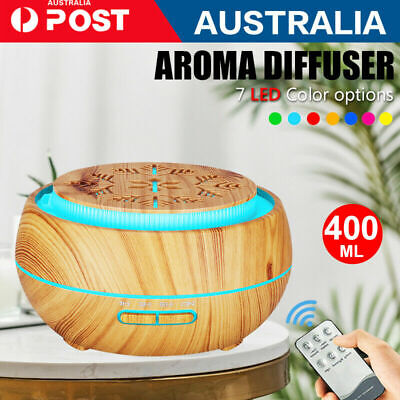 AU26.09 • Buy New Aroma Aromatherapy Diffuser Essential Oil Electric Air Humidifier LED 400ML