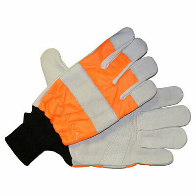 £18.95 • Buy Handy Chainsaw Gloves With One Hand Protection Orange XL