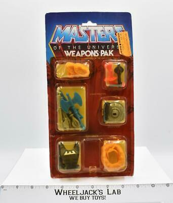 $60 • Buy Weapons Pak He-Man MOSC NEW 1983 He-Man MOTU Masters Of The Universe