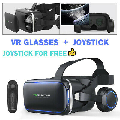 AU35.99 • Buy VR Headset BOX Virtual Reality Glasses 3D Fit Samsung Note 4 5 S10 S9 S8 S7 S6