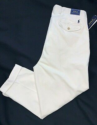 $49.99 • Buy Polo Ralph Lauren Mens Relaxed-fit Tapered Stretch-Corduroy 35x30 Cream Trousers