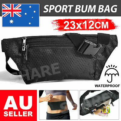 AU6.95 • Buy Waterproof Running Bum Bag Travel Waist Bags Money Zip Belt Pouch Sports Wallet