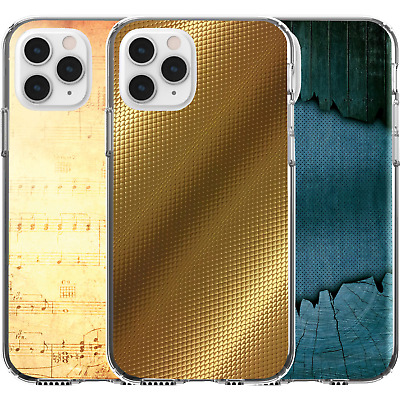 AU16.95 • Buy Silicone Cover Case Random Abstract Music Blue Wood Golden Pattern Print Art
