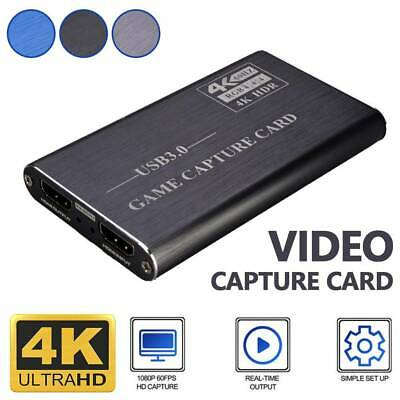 4K HDMI Capture Video Card USB 3.0 1080P Reliable Capture Game Card Recording UK • 31.99£