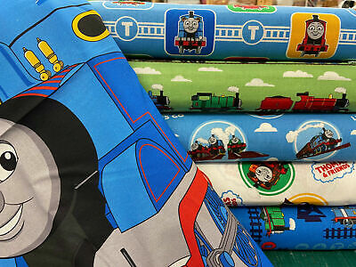 £0.99 • Buy Thomas The Tank Engine 'Thomas & Friends' Cotton Fabric By 1/4 Metre* Or Panel