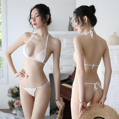 AU10.85 • Buy Sexy Women Micro G-String Underwear Bikini Set Bra Top Thong Lingerie Swimw Tr