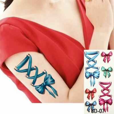 £2.99 • Buy 3D Ribbon Lace & Bows Temporary Waterproof Tattoos Sleeve Women Fake Sticker Arm