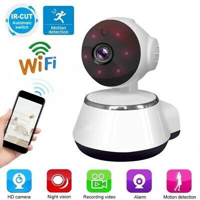 720P HD Vision Wireless WiFi IP Dome Camera Home Security Smart Motion Detection • 17.98£