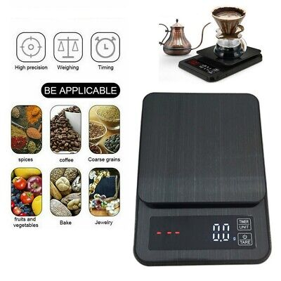 AU29.49 • Buy 5kg/0.1g Kitchen Digital Scale LCD Electronic Food Weight Postal Scales Timer AU