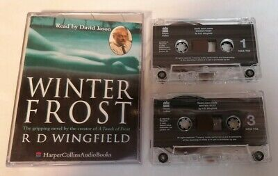 AUDIO BOOK - RD Wingfield Winter Frost Read By David Jason X2 Audio Tapes • 3£
