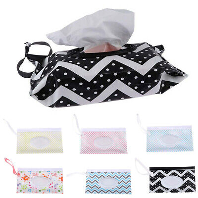 AU12.53 • Buy Baby Wet Wipe Pouch Wipes Holder Case Reusable Refillable Wet Wipe Bag Case AU