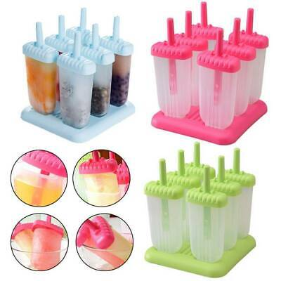 6/8pc Lolly Ice Lolly Cream Maker Mold DIY Popsicle Mould Frozen Icebox Yogurt • 7.79£
