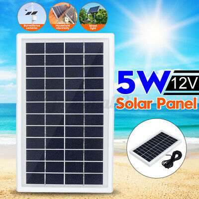 AU19.32 • Buy 5W 12V Solar Power Panel Battery Charger Class A Polysilicon Home Campin