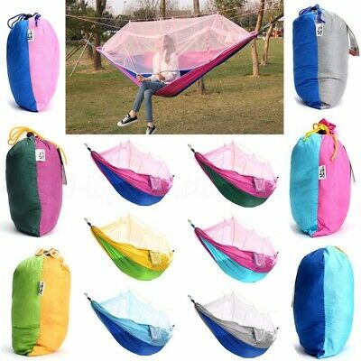 Double Person Hammock Tree Patio Bed Swing+Mosquito Net For Outdoor    • 21.54£