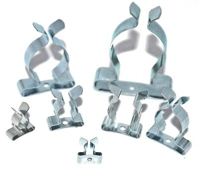 £2.75 • Buy Spring Tool Clips BZP 1/4  3/8  1/2   5/8  3/4 1  1.1/8 1 .1/2 Tools Wall Holder