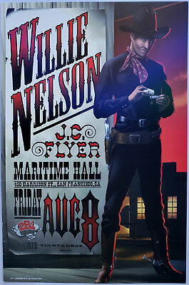 $54.60 • Buy Willie Nelson Concert Poster 1997 MHP-35 Maritime Hall