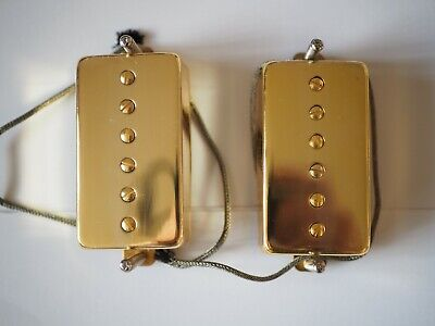 Humbucker Sized P90 Pickup Alnico 5 V Complete With Gold Cover • 18£