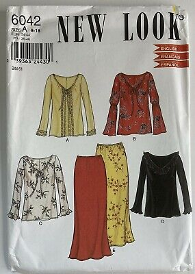 NewLook 6042 Long Sleeve Top Shirt Blouse V  Ladies Skirt New Uncut Pattern • 9.50£