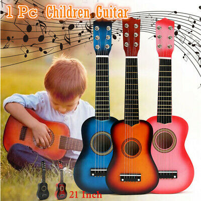 21 Inch Children Acoustic 4 String Wood Guitar Musical Instrument For Children • 34.39£