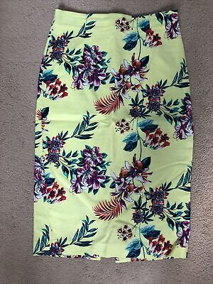 £7 • Buy Oasis Tropical Pencil Skirt Size 8