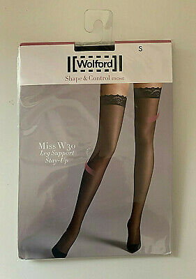 Wolford Womens Miss W 30 Leg Maximum Support Sheer Stockings Stay Ups • 24.95£