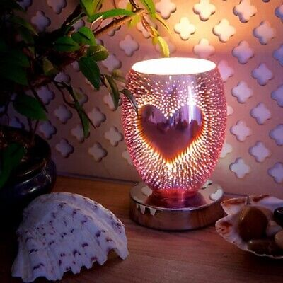 Electric Plug In Aroma Touch Lamp Wax Melt Warmer Oil Burner 3d Heart Design • 19.99£