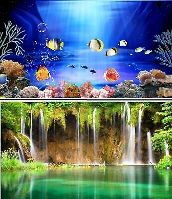AU26.20 • Buy Aquarium Fish Tank Background Picture Poster Double Sided - 2 To 10 FT Lengths