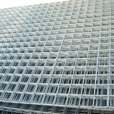 Welded Wire Mesh Panels 8x4FT Galvanized Steel Grid Fence Sheet Metal Pack Of 2 • 36.99£