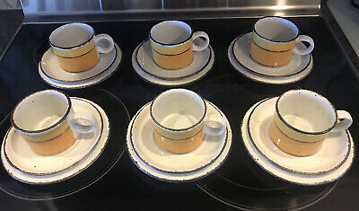 £98.72 • Buy 6 Trio Sets Of Stonehenge Midwinter Sun Cups, Saucers & Side Plates 18 Pieces