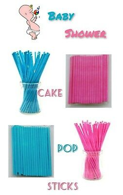 £2.95 • Buy Paper Lollipop Cake Pop Sticks Lollies Crafts Lolly Pink Blue Baby Shower New