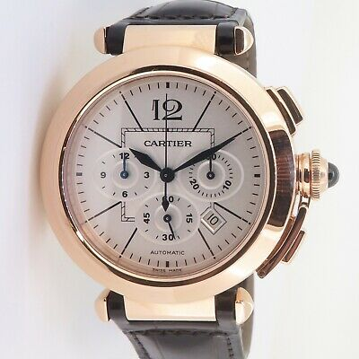 £9751.42 • Buy .Auth Cartier Pasha Automatic Chronograph 42mm 18k Rose Gold Watch Box+Docs 2863